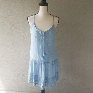 NWT! Blue Spaghetti Strap Boho Dress